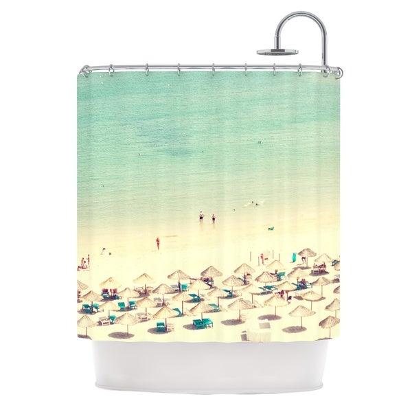 KESS InHouse Ingrid Beddoes Happy Summer Beach Shower Curtain (69x70)