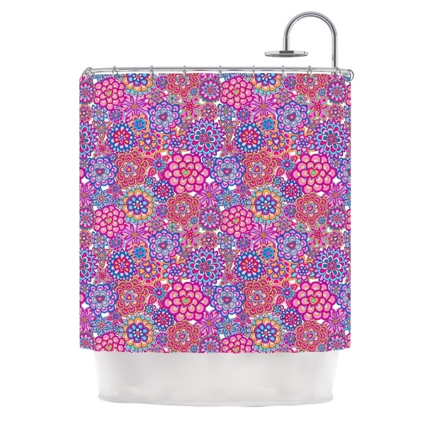 KESS InHouse Julia Grifol My Happy Flowers Shower Curtain (69x70)