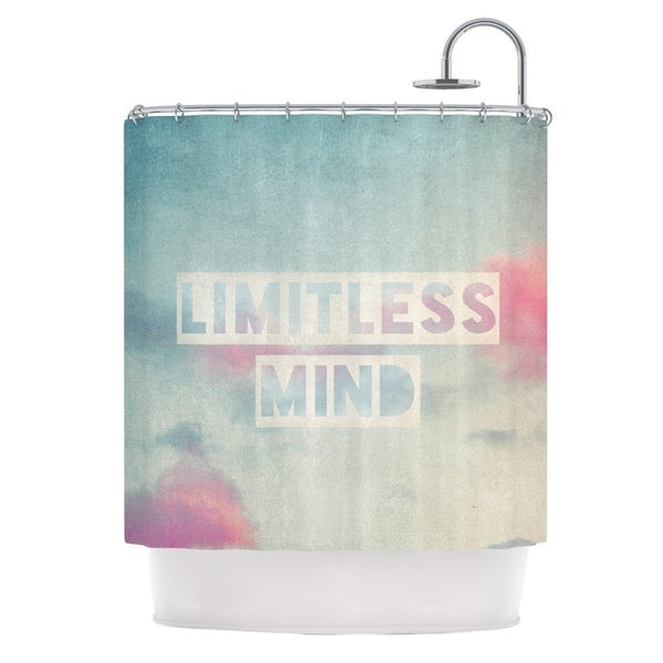 KESS InHouse Ingrid Beddoes Limitless Mind Clouds Blue Shower Curtain (69x70)