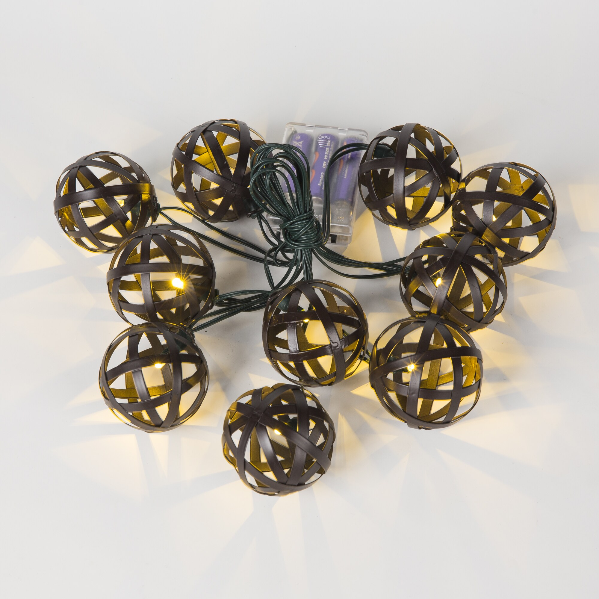 Metal Balls String Lights (12.8ft) (SEE Product Dimension...