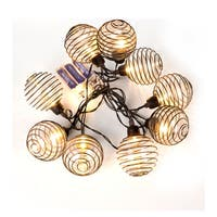 Glass Balls with Metal Wire String Lights (12.8ft)