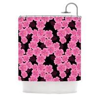 KESS InHouse Julia Grifol Pink on Black Shower Curtain (69x70)