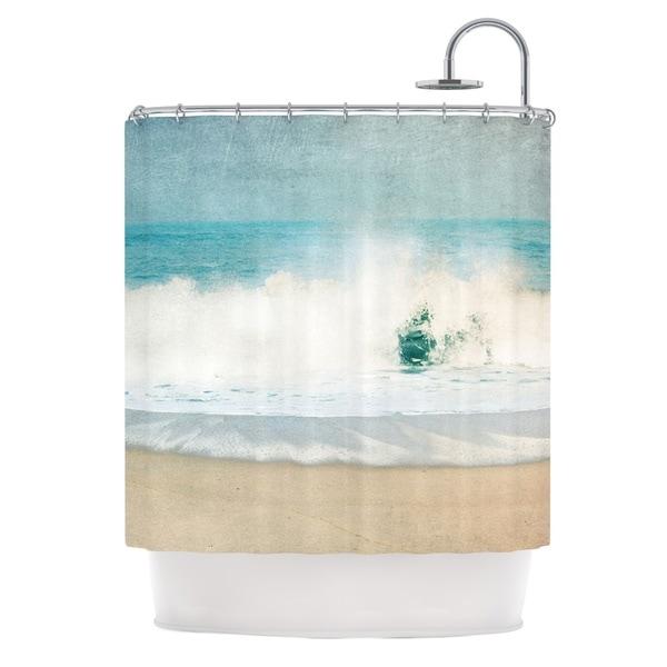 KESS InHouse Ingrid Beddoes Ocean Blues Wave Shower Curtain (69x70)