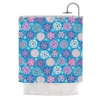 KESS InHouse Julia Grifol Floral Winter Shower Curtain (69x70)