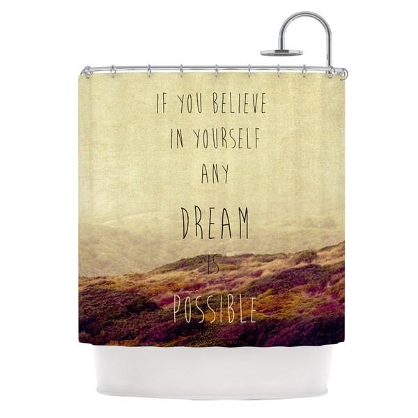 KESS InHouse Ingrid Beddoes Believe Desert Quote Shower Curtain (69x70)
