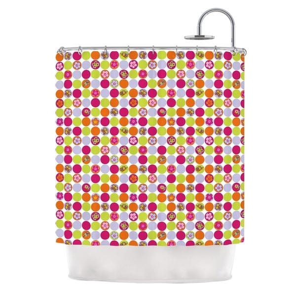 KESS InHouse Julia Grifol Happy Circles Shower Curtain (69x70)