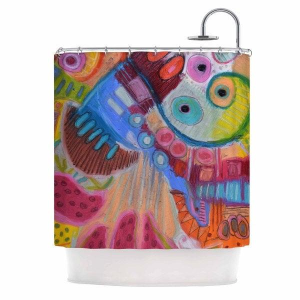 KESS InHouse Jeff Ferst Papaya Dream Orange Yellow Shower Curtain (69x70)