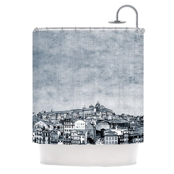 KESS InHouse Ingrid Beddoes A Riberia Grey City Shower Curtain (69x70)