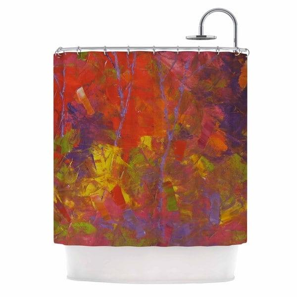 KESS InHouse Jeff Ferst Forest Kaleidescope Purple Red Shower Curtain (69x70)