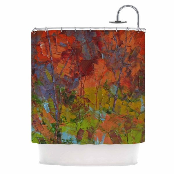 KESS InHouse Jeff Ferst Fall Colours Red Painting Shower Curtain (69x70)