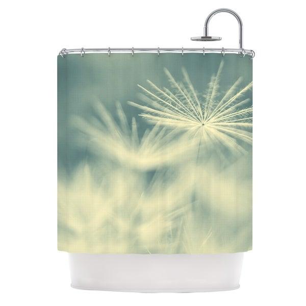 KESS InHouse Ingrid Beddoes Snowflake Teal White Shower Curtain (69x70)