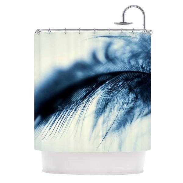 KESS InHouse Ingrid Beddoes Fall in Blue Shower Curtain (69x70)