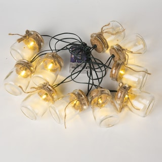 Jars with Twine String Lights (12.8ft)