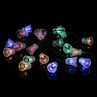 Solar Outdoor String Lights, 20 LED Colorful Bell Lights, 19.7 ft