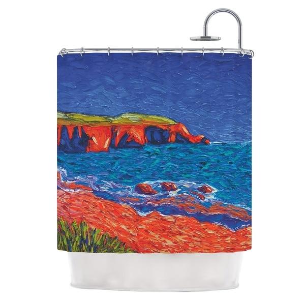 KESS InHouse Jeff Ferst Sea Shore Coastal Painting Shower Curtain (69x70)
