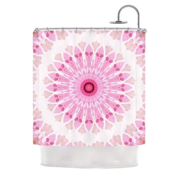 KESS InHouse Iris Lehnhardt Flower Power Pink Abstract Shower Curtain (69x70)
