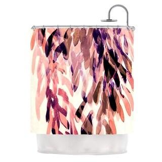 KESS InHouse Iris Lehnhardt Abstract Leaves I Orange Brown Shower Curtain (69x70)
