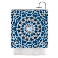 "KESS InHouse Iris Lehnhardt ""Mandala II"" Blue Abstract Shower Curtain (69x70) - 69 x 70"