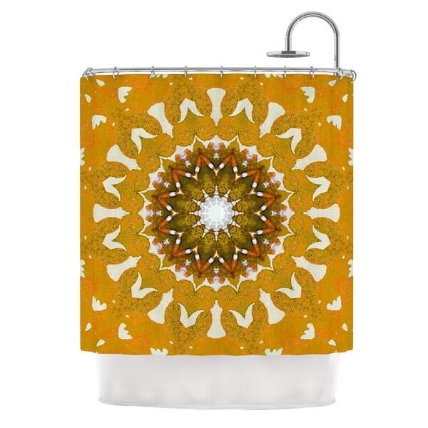 KESS InHouse Iris Lehnhardt M1 Orange Shower Curtain (69x70)