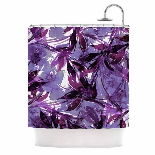 KESS InHouse Ebi Emporium Floral Fiesta - Purple Multi Lavender Watercolor Shower Curtain (69x70)
