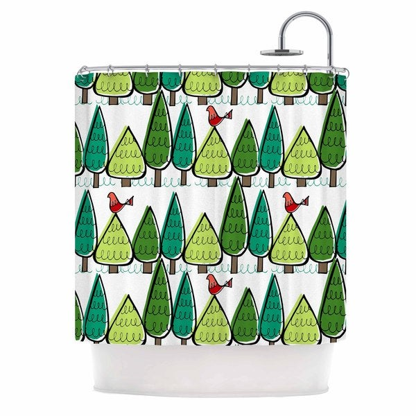 KESS InHouse Holly Helgeson Vintage Christmas Holiday Pattern Shower Curtain (69x70)