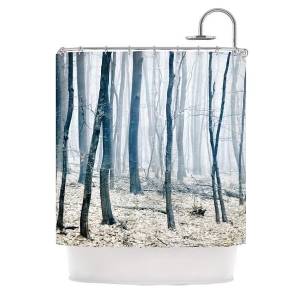 KESS InHouse Iris Lehnhardt Blues Gray Shower Curtain (69x70)