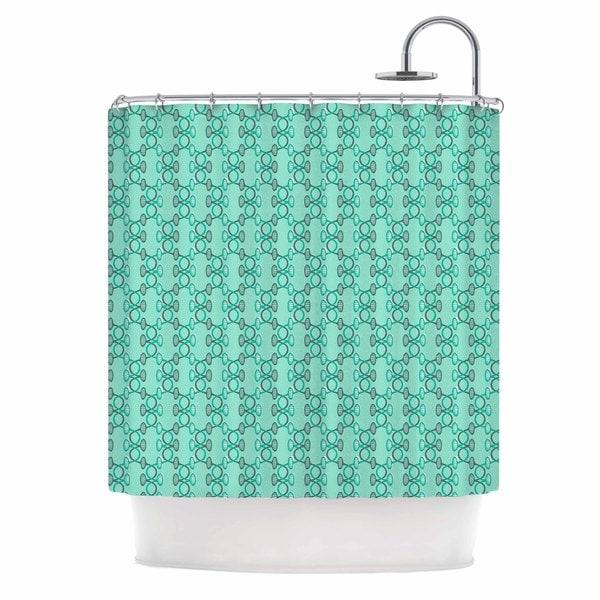 KESS InHouse Holly Helgeson Mod Pod Teal Pattern Shower Curtain (69x70)