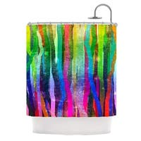 KESS InHouse Frederic Levy-Hadida Jungle Stripes Green Painting Shower Curtain (69x70)