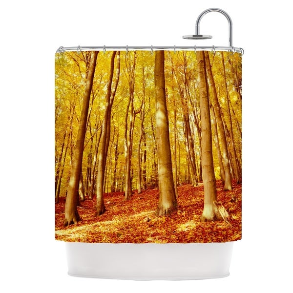 KESS InHouse Iris Lehnhardt Forest Colors Yellow Orange Shower Curtain (69x70)
