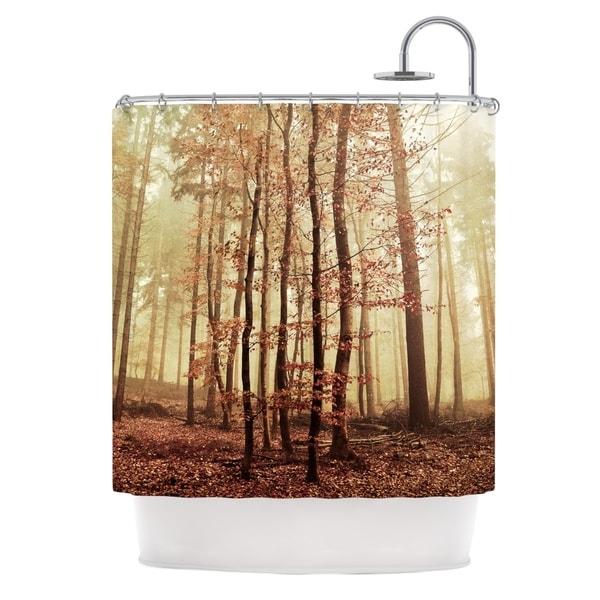 KESS InHouse Iris Lehnhardt Autumn Again Brown Shower Curtain (69x70)