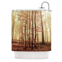 KESS InHouse Iris Lehnhardt Autumn Again Brown Shower Curtain (69x70)