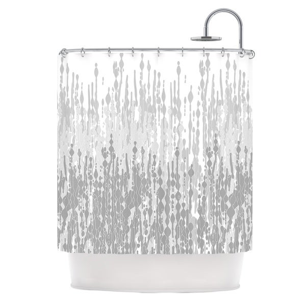 KESS InHouse Frederic Levy-Hadida Drops Gray Shower Curtain (69x70)