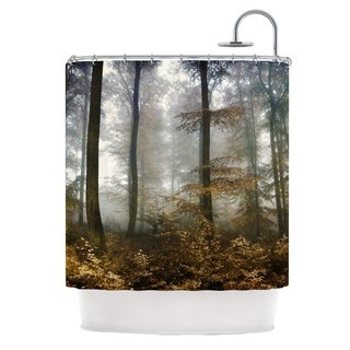 KESS InHouse Iris Lehnhardt Forest Mystics Brown Gray Shower Curtain (69x70)