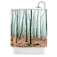 KESS InHouse Iris Lehnhardt Between Times Teal Shower Curtain (69x70)