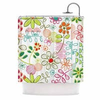KESS InHouse Holly Helgeson Wildflower White Multicolor Shower Curtain (69x70)