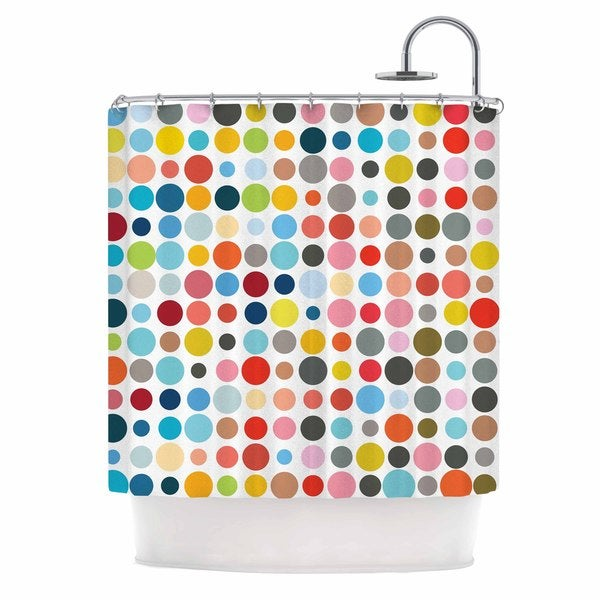 KESS InHouse Fimbis Tangled Up In Colour Red Blue Shower Curtain (69x70)