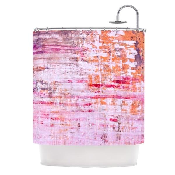 KESS InHouse Iris Lehnhardt Bittersweet Pink Orange Shower Curtain (69x70)