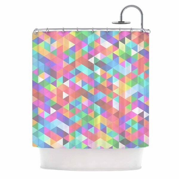 KESS InHouse Fimbis Marques Pink Purple Shower Curtain (69x70)