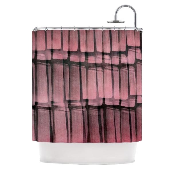 KESS InHouse Iris Lehnhardt Reddish Pink Shower Curtain (69x70)