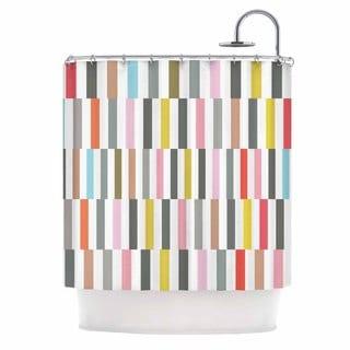 KESS InHouse Fimbis Rocolu Multicolor Pink Shower Curtain (69x70)