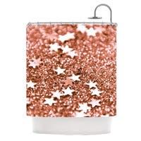 KESS InHouse Iris Lehnhardt Copper Glaze Brown Shower Curtain (69x70)
