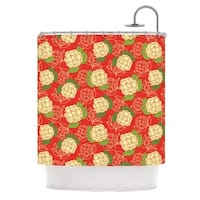 KESS InHouse Holly Helgeson Cammelia Red Yellow Shower Curtain (69x70)