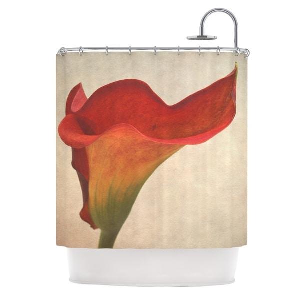 KESS InHouse Iris Lehnhardt Calla Red Flower Shower Curtain (69x70)