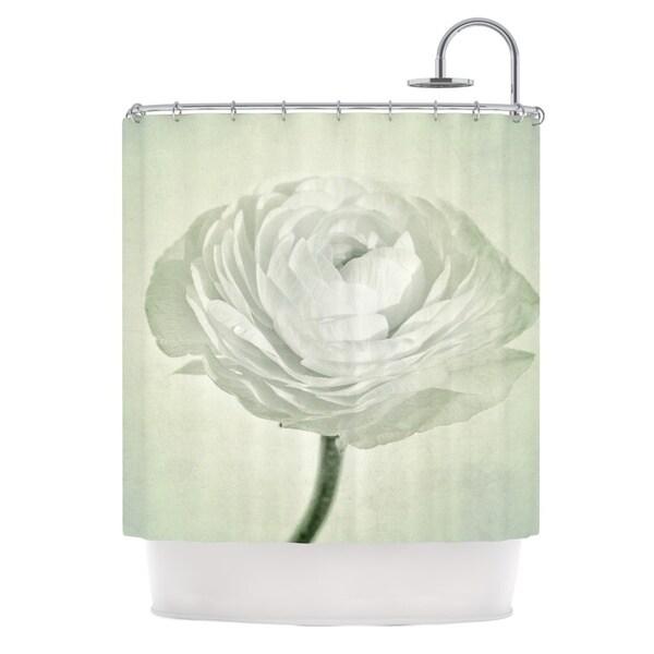 KESS InHouse Iris Lehnhardt Whity Gray Floral Shower Curtain (69x70)
