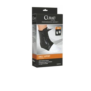 Curad Lace-Up Vinyl Brace Ankle Support