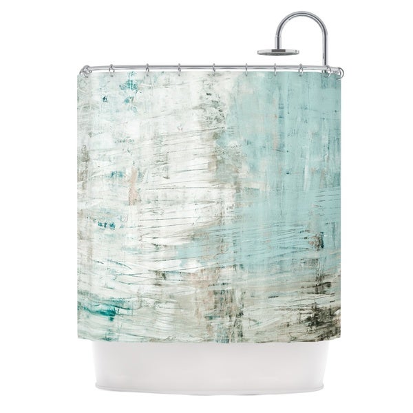 KESS InHouse Iris Lehnhardt Bluish Green Neutral Blue Shower Curtain (69x70)