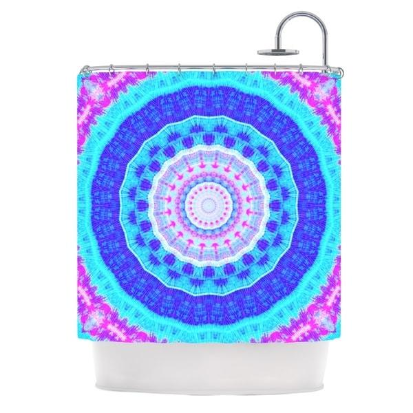 """KESS InHouse Iris Lehnhardt """"Summer Colors"""" Pink Blue Shower Curtain (69x70) - 69 x 70"""