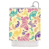"KESS InHouse Emine Ortega ""Namaste"" Floral Abstract Shower Curtain (69x70) - 69 x 70"