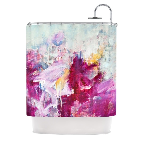 KESS InHouse Iris Lehnhardt Magenta Pink Paint Shower Curtain (69x70)