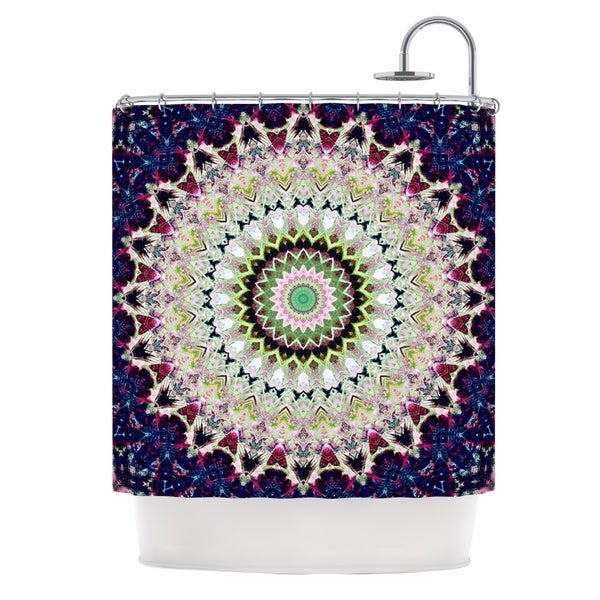 "KESS InHouse Iris Lehnhardt ""Summer of Folklore"" Pink Navy Shower Curtain (69x70) - 69 x 70"